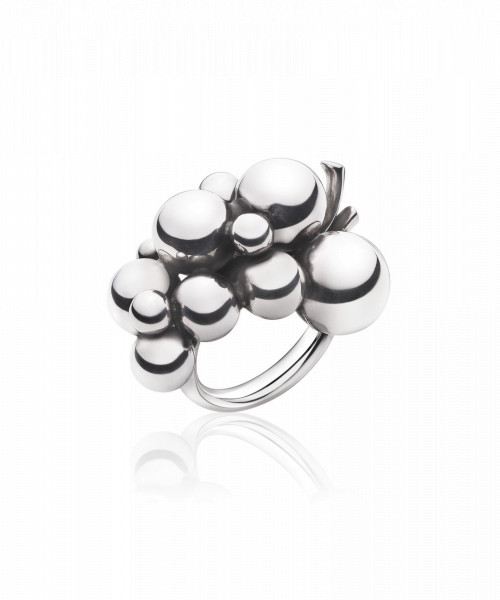 MOONLIGHT GRAPES ring - oxideret sterling sølv, stor