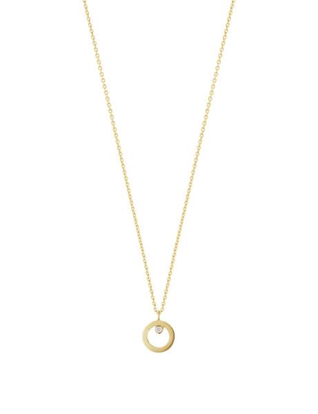 HALO vedhæng – 18 kt. guld med brillantsleben diamant
