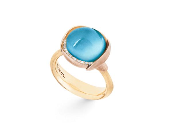 Lotus ring sky blue topas