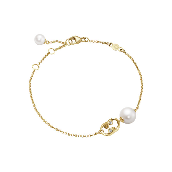 MAGIC armbånd - 18 kt. guld med perler og diamanter