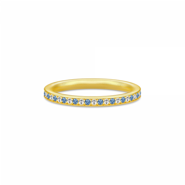 Infinity Ring Gold white/blue