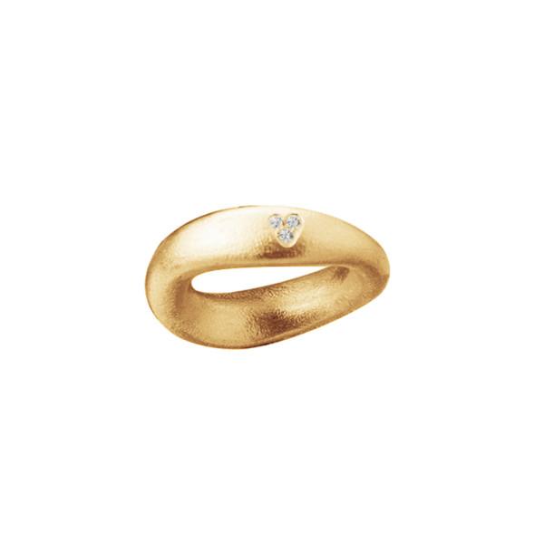 Love Ring nr. 5 i 18 karat mat guld. 0,06ct. TW.VS
