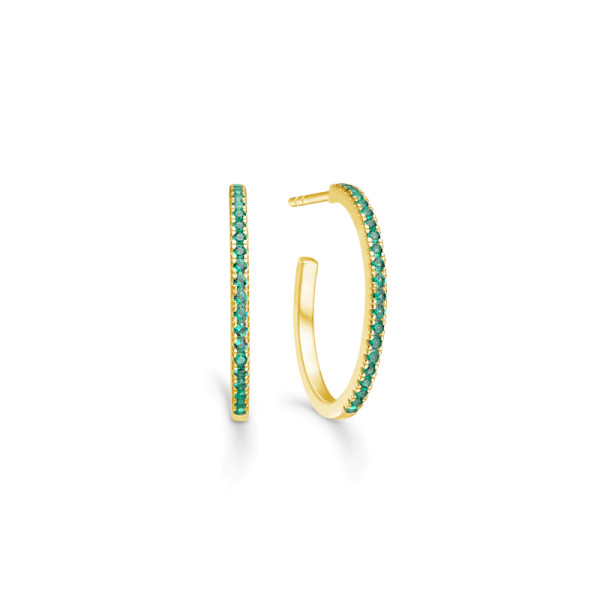 Simplicity Hoops - Gold/Green