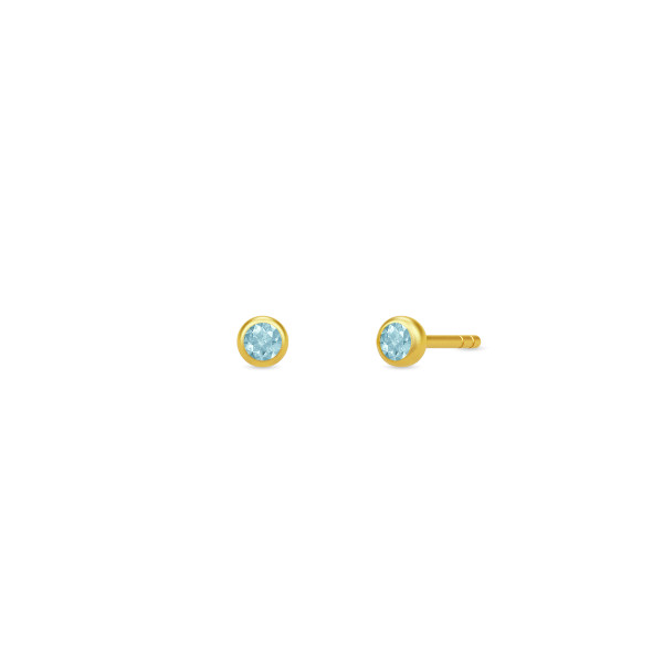 Finesse øreringe - Swiss Blue Topaz