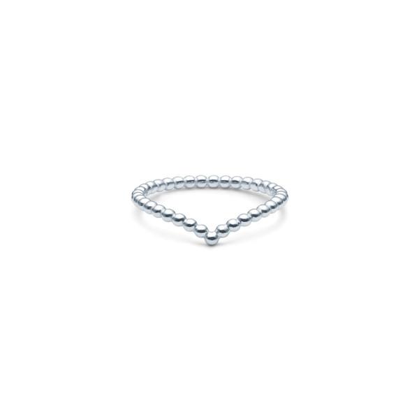 Bubbly V-Ring - Rhodium