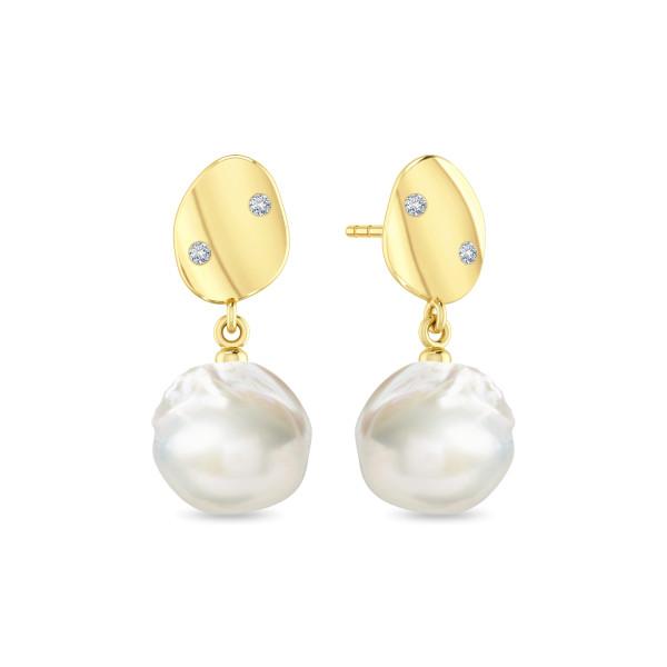 Liquid Pearl earstuds- white
