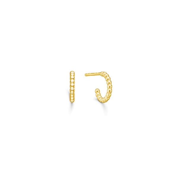 Bubbly Mini Hoops - Gold
