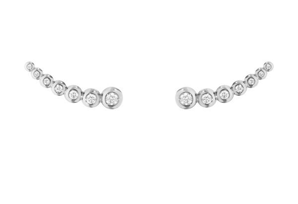 AURORA øreringe - 18 kt. hvidguld med brillantslebne diamanter