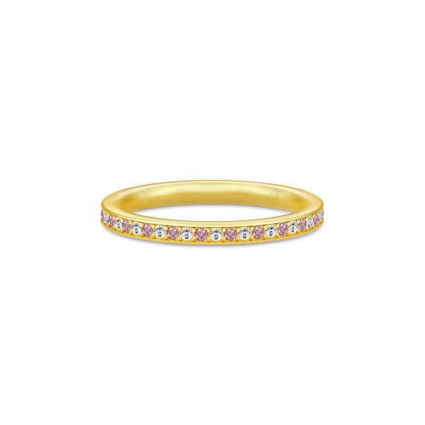 Infinity Ring Gold white/rhodolite