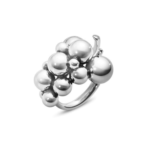 MOONLIGHT GRAPES ring - oxideret sterlingsølv, medium
