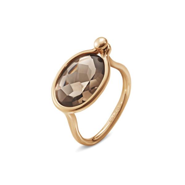 SAVANNAH ring - 18 kt. rosa guld med røgkvarts, mellem