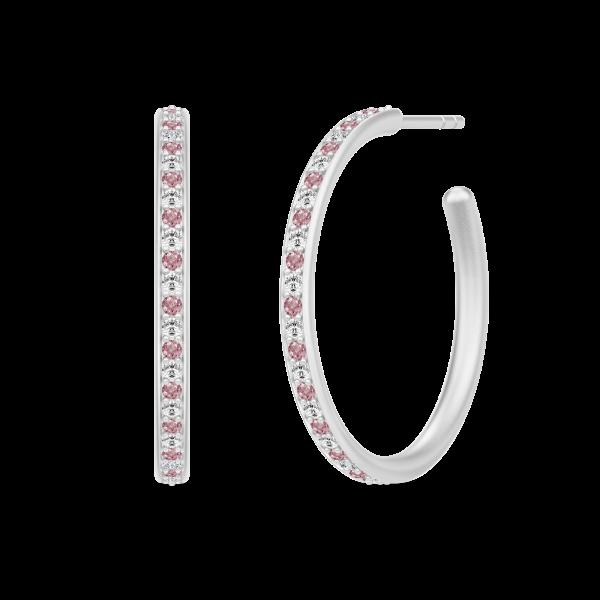 Infinity Medium Hoops - Rhodium/Rhodolit