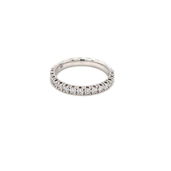 Halvalliance ring 0,42ct RIVER/SI hvidguld
