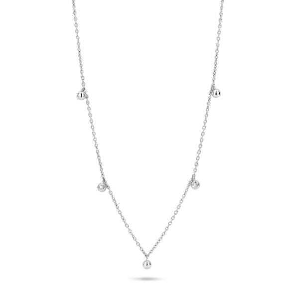 Sway necklace 0,04ct W/VS