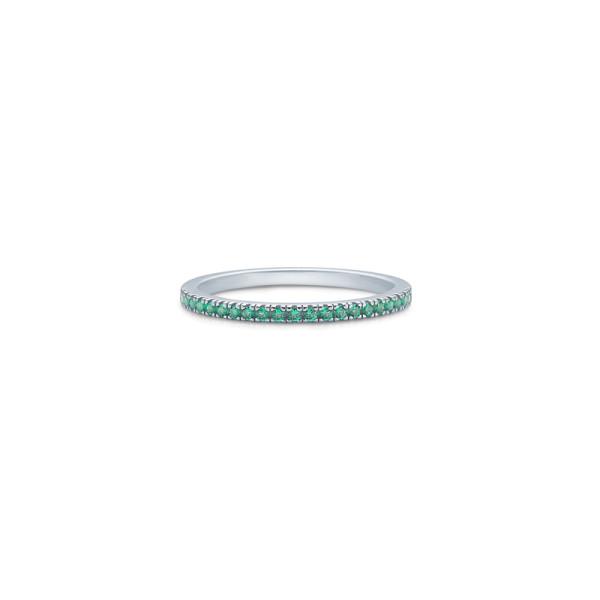 Simplicity Ring - Rhodium/Green