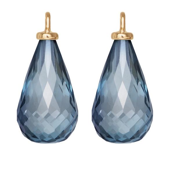 Design vedhæng til øreringe blå topas