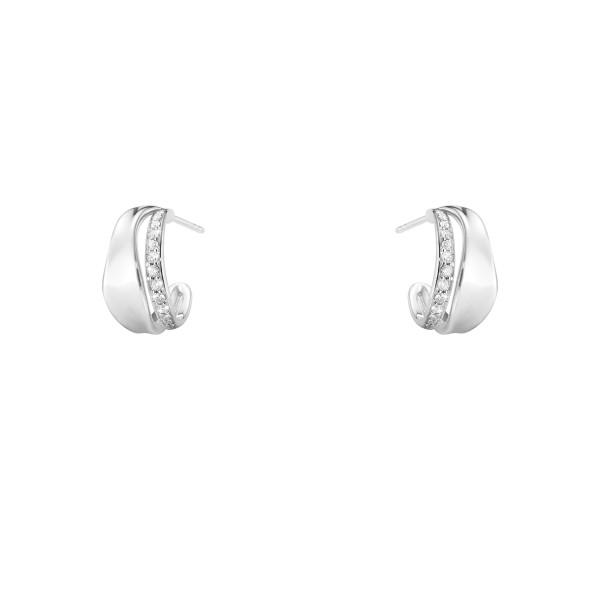 MARCIA øreringe - sterlingsølv med brillantslebne diamanter