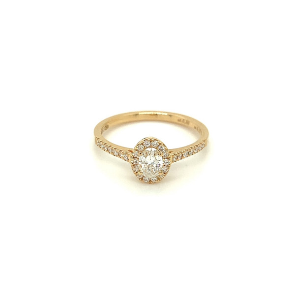 Rosetring med oval 0.30ct RIVER/SI diamant