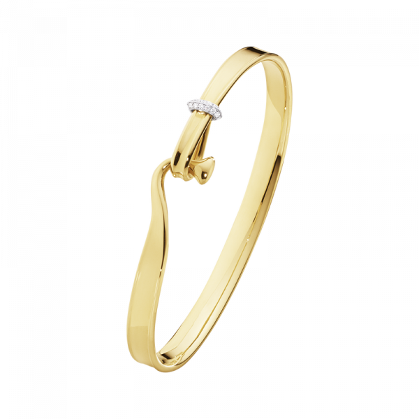TORUN armring - 18 kt. guld med brillantslebne diamanter