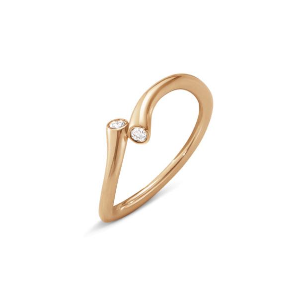 MAGIC ring - 18 kt. rosa guld med brillantslebne diamanter