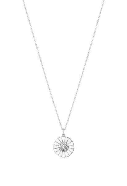 DAISY vedhæng - rhodiumbelagt sterlingsølv med diamanter