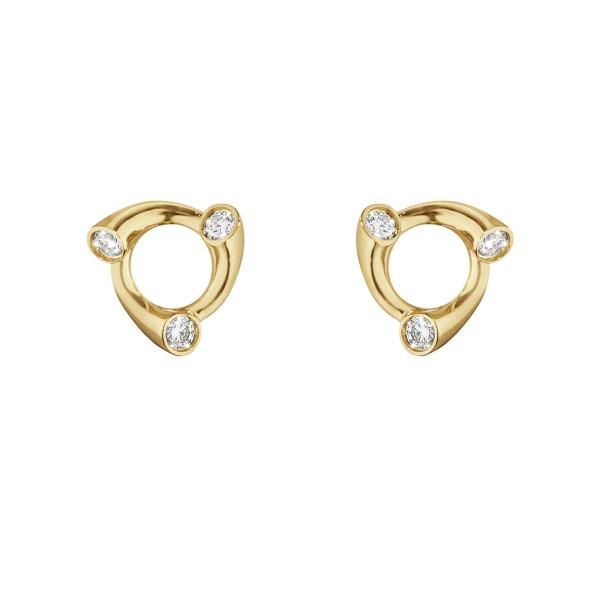 MAGIC øreringe - 18 kt. guld med diamanter
