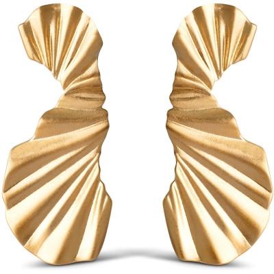 Big wave earring