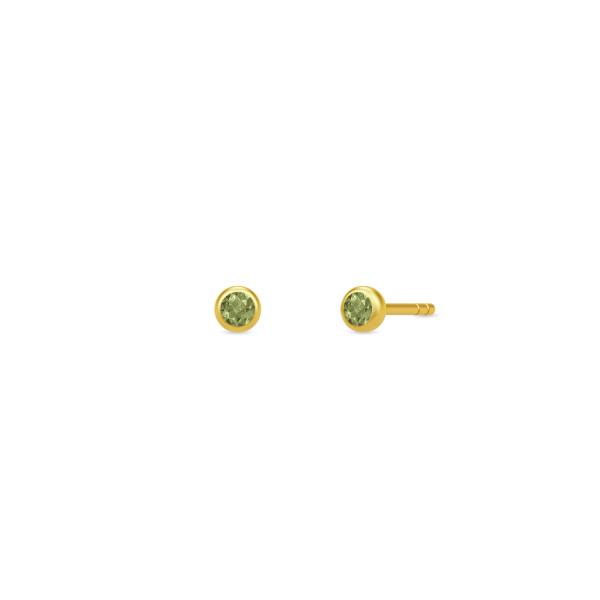 Finesse øreringe - Green Tourmaline