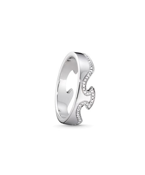 FUSION endering - 18 kt. hvidguld med brillantslebne diamanter