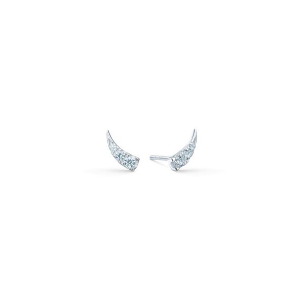 Glace Earstuds - Rhodium/White