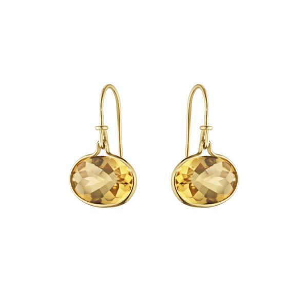 SAVANNAH øreringe - 18 kt. guld med citrin
