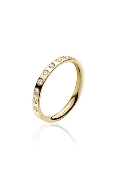 MAGIC ring - 18 kt. guld med 0.18 ct brillanter