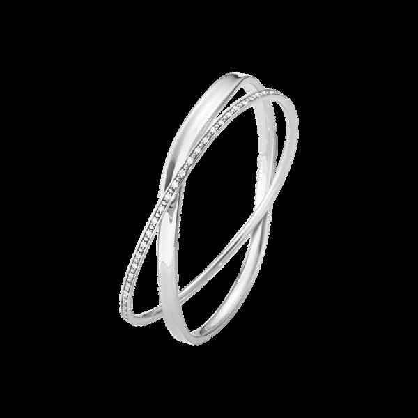 MARCIA armring - sterlingsølv med brillantslebne diamanter