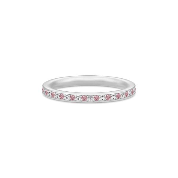 Infinity Ring Rhodium white/rhodolite