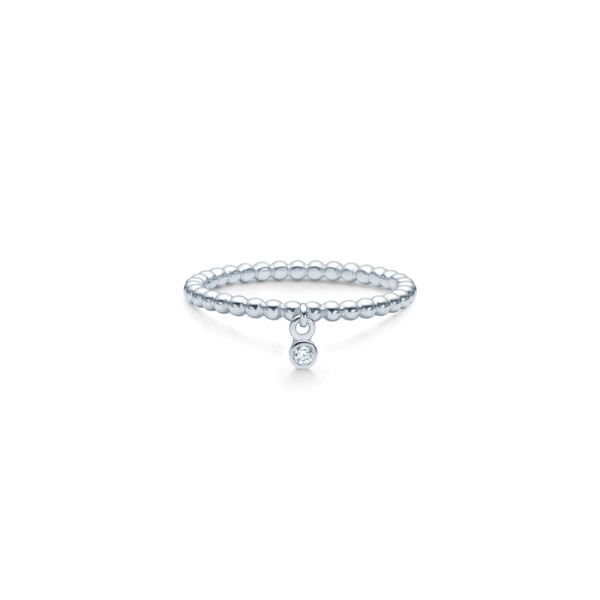 Bubbly Drop Ring - Rhodium