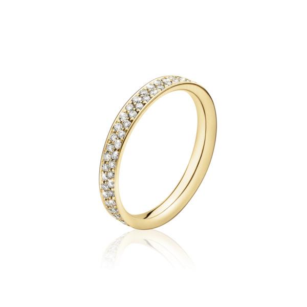 MAGIC ring - 18 kt. guld med pavéfattede brillanter