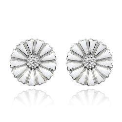 Daisy ørestik sølv/hvid 7mm