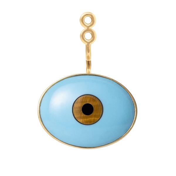 Evil eye Lotus ørestik