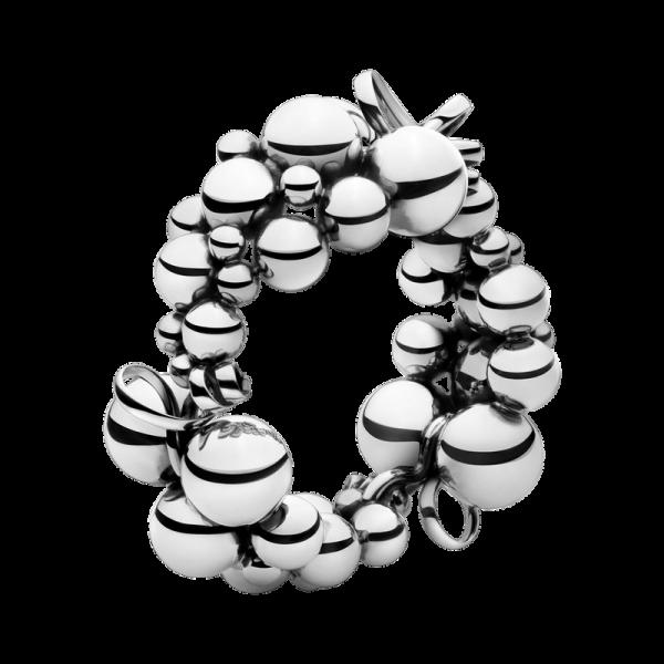 MOONLIGHT GRAPES armbånd - oxideret sterlingsølv