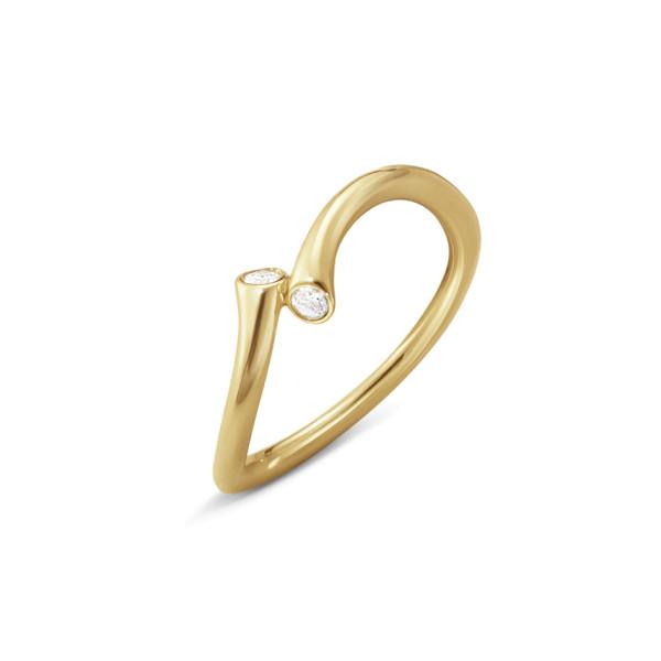 MAGIC ring - 18 kt. guld med brillantslebne diamanter