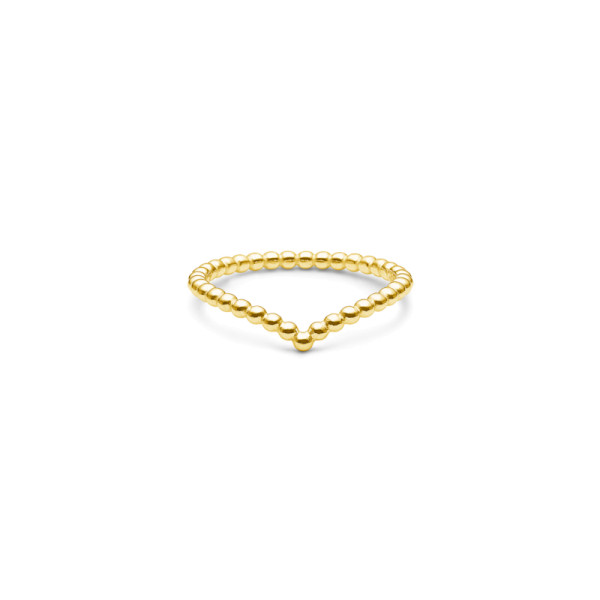 Bubbly V-Ring - Gold