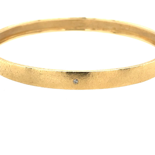 14kt 6mm armring m/ 0,015ct