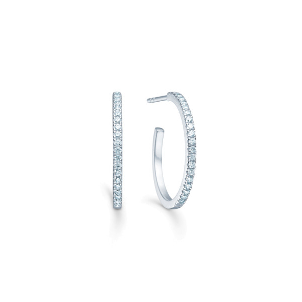 Simplicity Hoops - Rhodium/White