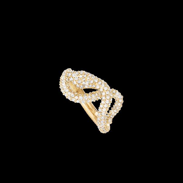 Snake lille pavé ring