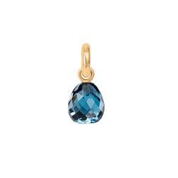 Sweet drop facetteret London blue topas