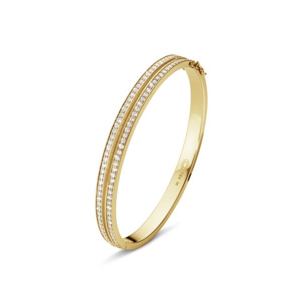 HALO armring – 18 kt. guld med brillantslebne diamanter