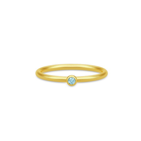 Finesse Ring - Swiss Blue Topaz