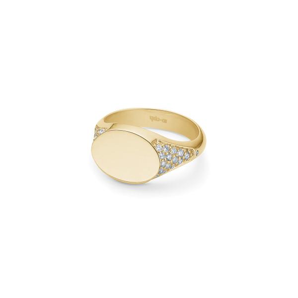 Rock diamond Signetring