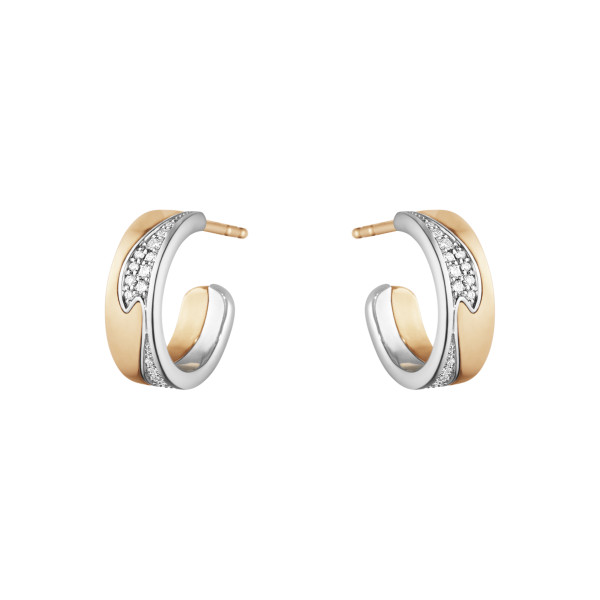 Fusion small earhoop med pavé 0,18 ct.