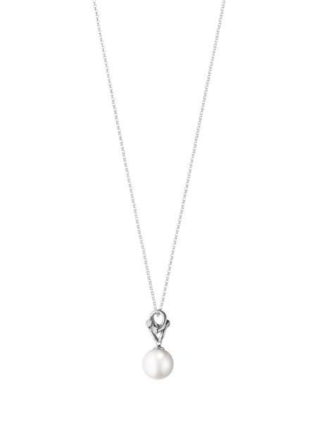 MAGIC vedhæng - 18 kt. hvidguld med perle og diamanter